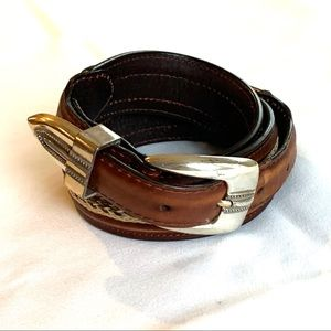 """Other - Western belt in genuine leather size 38"""""""